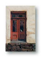 Realistic rendition of a door from Mogollon, New Mexico