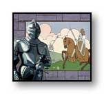"Painting:""The Previous Knight - ©1975-C.E.Newland - acrylic - private collection"