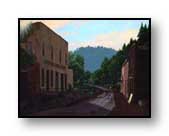 "Painting: ""Mogollon Morning"" - ©1990-C.E.Newland - acrylic - Private collection"